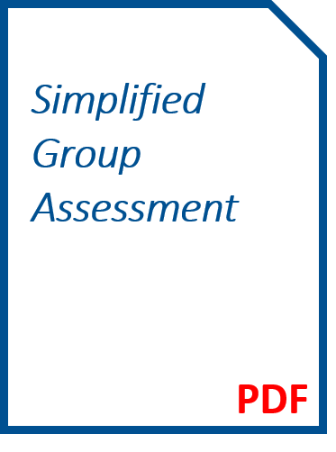 Simplified Group Assessment