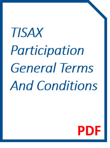 TISAX Participation General Terms and Conditions
